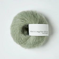 Knitting for Olive Soft Silk Mohair Dusty Artichoke