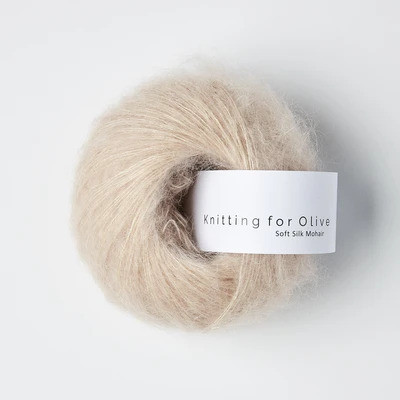 Knitting for Olive Soft Silk Mohair Soft Rose