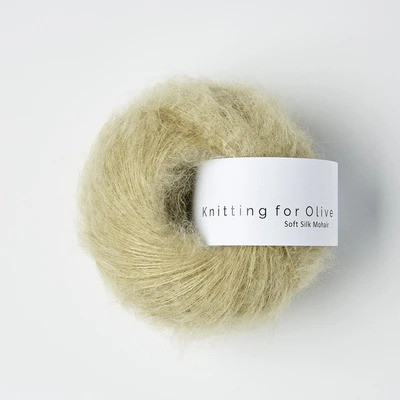 Knitting for Olive Soft Silk Mohair Fennel Seed