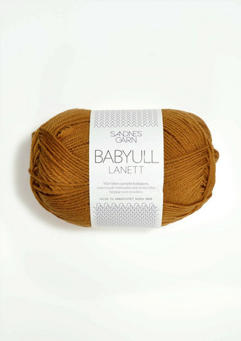 Sandnes Babyull Lanett, senapsgul 2335