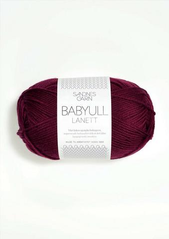Sandnes Babyull Lanett, vinröd 4345