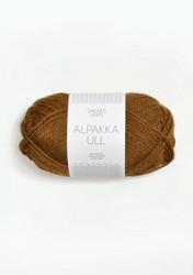 Alpakka Ull, gyllenbrun 2564