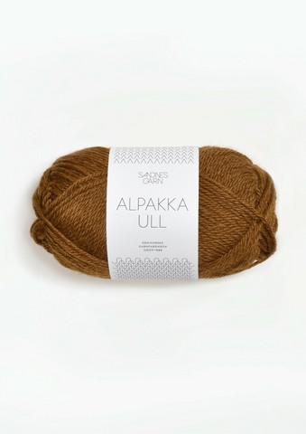 Alpakka Ull, kullanruskea 2564