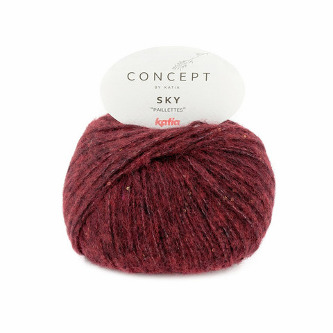Concept by Katia, , 88 burgundy red
