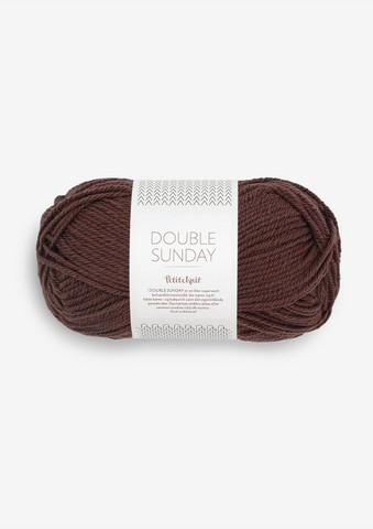DOUBLE SUNDAY Petite Knit, coffee bean 4081