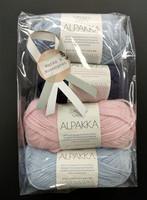 Löytönurkka: Sandnes Alpakka 4 kpl, vaal. sininen+roosa+mariini