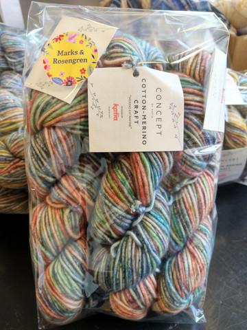 Fyndhörna: Katia Cotton-Merino Craft 5 st, färg 205