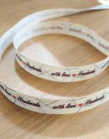 'Handmade with love' band 4, svart/rött