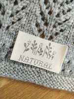 Natural tygmärke, naturvitt/grått