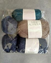 Löytönurkka: Sandnes Mini Alpakka 7 kpl, sininen+petrooli+beige