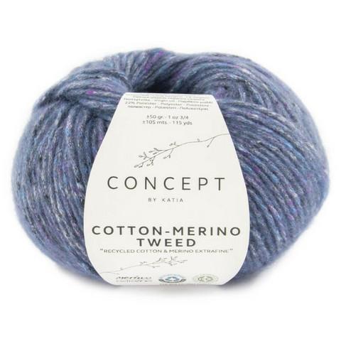 Concept By Katia, Cotton-Merino tweed, color 508