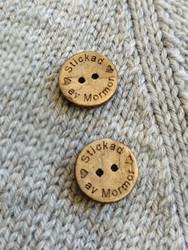 Stickad av mormor kookosnappi, 15 mm