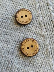 Stickad av farmor kookosnappi, 15 mm