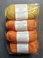 Fyndhörna: Sandnes Mandarin Petit 4 st, oranssi+keltainen