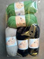 Fyndhörna: Dale Babyull 5 st, svart+sand+grön
