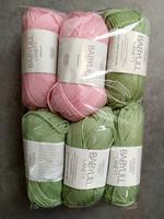 Fyndhörna: Sandnes Lanett 6 st, rosa+grön