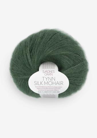 Ohut Silk Mohair, syvä metsänvihreä 8581