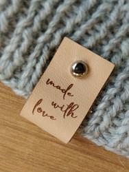 Lädermärke Made with love