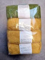 Löytönurkka: Sandnes Borstet Alpakka 4 kpl, vihreä + keltainen