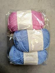 Löytönurkka: Sandnes Smart 3 kpl, sininen + roosa