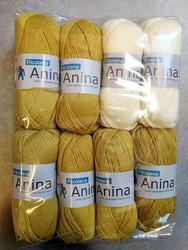 Löytönurkka: Filcolana Anina 8 kpl, valk + vaalea sinappi