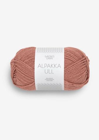 Alpakka Ull, plommonrosa 3553