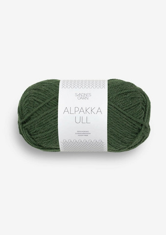 Alpakka Ull, skogsgrön 8082