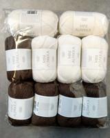 Fyndhörna: Sandnes Mini Alpakka 10 st, brun+vit