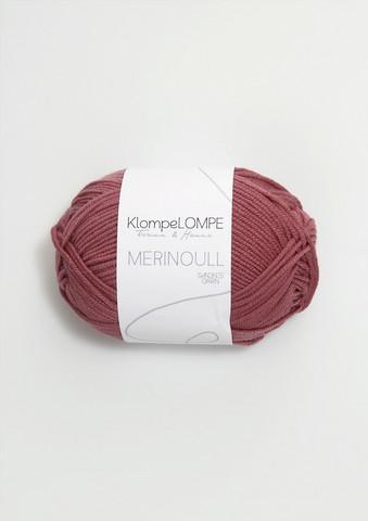 Sandnes KlompeLompe merinoull, mörk puderrosa 4344