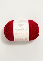 Sandnes merinoull, röd 4219