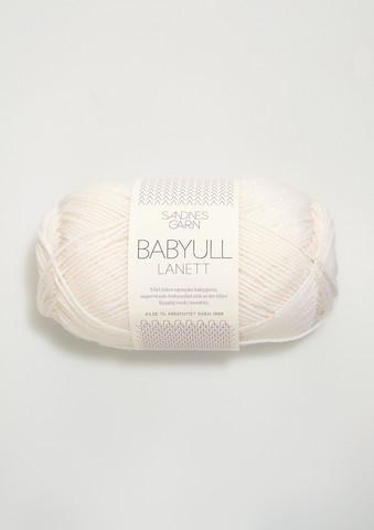 Sandnes Babyull Lanett, vit 1001