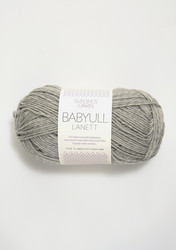 Sandnes Babyull Lanett, ljusgrå 1032