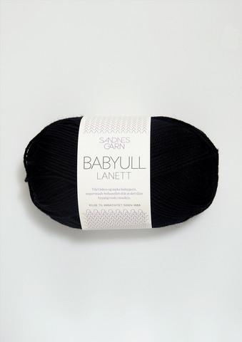 Sandnes Babyull Lanett, svart 1099