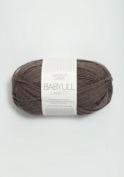 Sandnes Babyull Lanett, melerad mellanbrun 2652