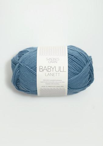 Sandnes Babyull Lanett, mellanblå 6033