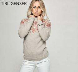Tiril 6 Snøkrystall pusero ja neuletakki (aikuisille)