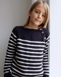 Seaside sweater - junior, mönster på svenska