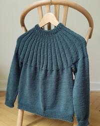 Haralds sweater - junior, mönster på svenska