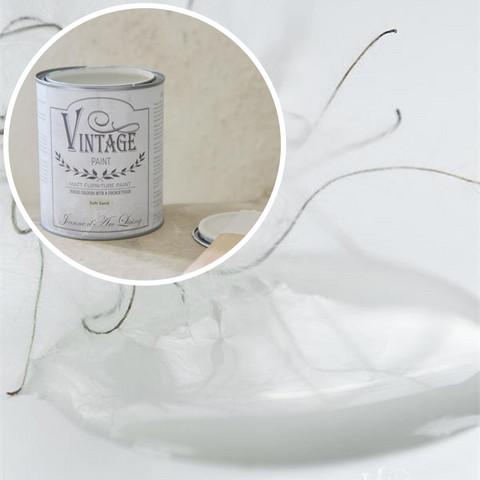 Kalkkimaali - JDL - Vintage Paint  - Soft Sand - Hiekanvalkoinen - 700 ml