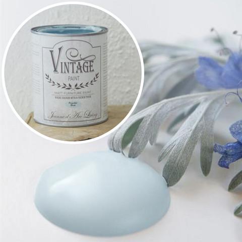 Kalkkimaali - JDL - Vintage Paint - Powder Blue - Puuterin sininen - 700 ml
