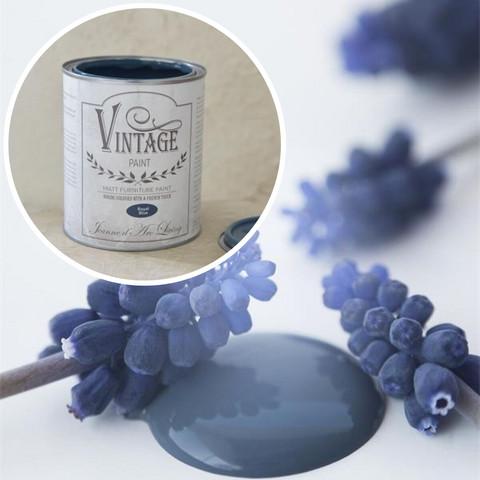 Kalkkimaali - JDL - Vintage Paint - Royal Blue  - Tummansininen - 700 ml