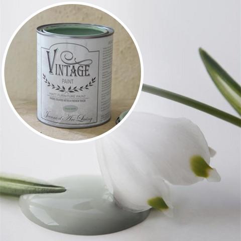 Kalkkimaali - JDL - Vintage Paint - Dusty Green - Utuinen vihreä - 700 ml