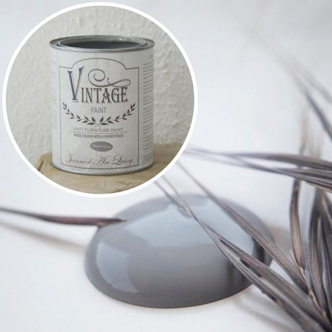 Kalkkimaali - JDL - Vintage Paint - Warm Grey - Lämmin harmaa - 700 ml