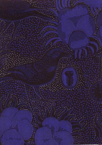 Kiurujen yö -tapetti, Pihlgren ja Ritola, sinimusta