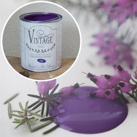 Kalkkimaali - JDL - Vintage Paint - Dark Purple - Violetti - 700 ml