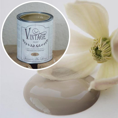 Kalkkimaali - JDL - Vintage Paint - Old Beige - Vaaleanruskea - 700 ml