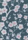 Kirsikkapuu-tapetti, Pihlgren ja Ritola, sininen