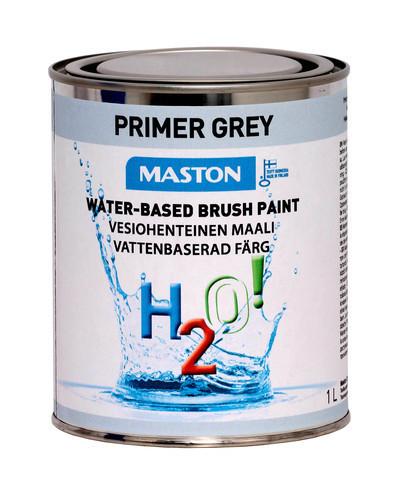 Pohjamaali - Maston H2O! - Harmaa - 1 l