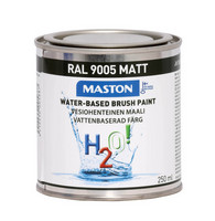 Kalustemaali - Maston H2O! - Matta musta - 250 ml *