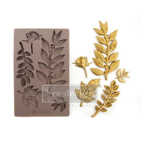 Silikonimuotti - 20x13 cm - Prima Re-Design - Leafy Blossoms